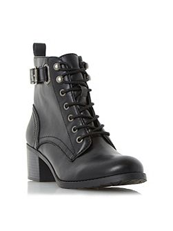 Priya ankle strap buckle boots