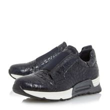 Dune Black Elva elasticated trainers