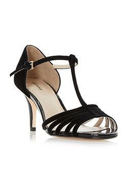 Minette strappy t-bar dressy sandals