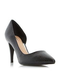Dacota semi-d`orsay point toe court shoe