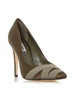 Archivve satin pointed toe court shoes
