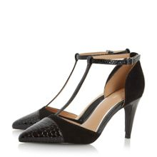 Linea Corrah pointed t-bar court shoes