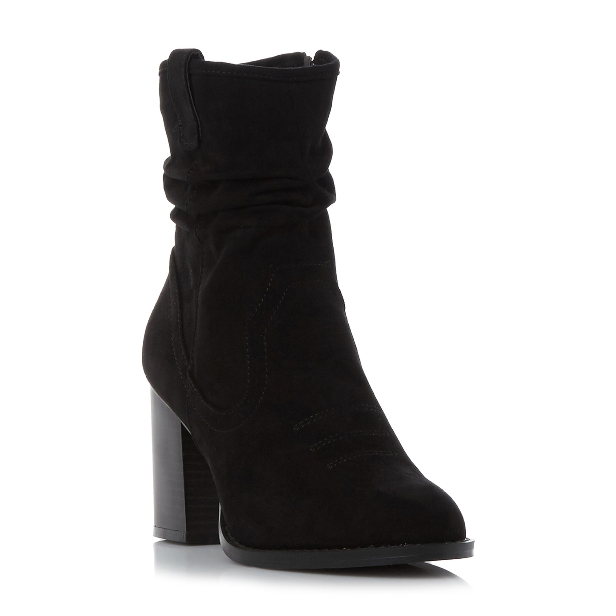 Head Over Heels Railey slouch calf boots Black