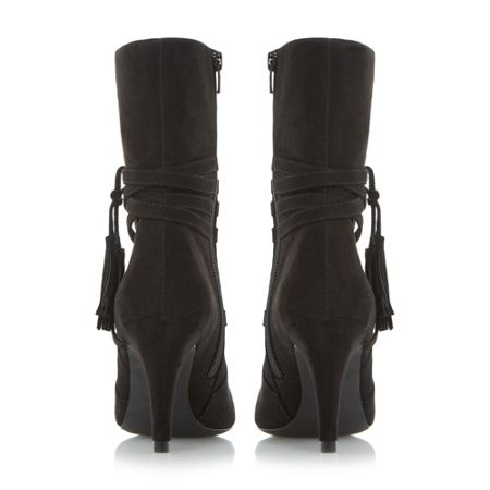 Head Over Heels Reign tassel detail calf boots