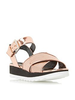 Luissa metallic flatform sandals