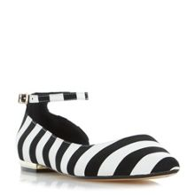 Dune Hustle mono stripe flat shoes