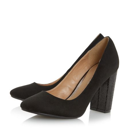 Head Over Heels Amy block heel court shoes