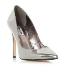 Dune Aiyana pointed toe high heel court shoes