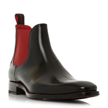 Jeffery West Harrowshow contrast gusset chelsea boots
