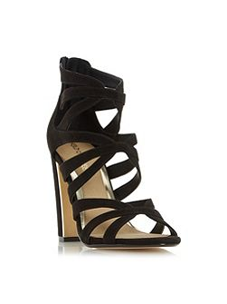 Micha caged block heel sandals
