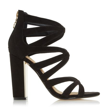 Head Over Heels Micha caged block heel sandals