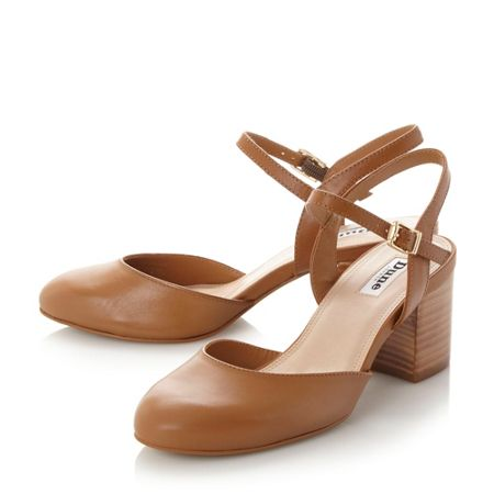 Dune Cierra two part block heel court shoes