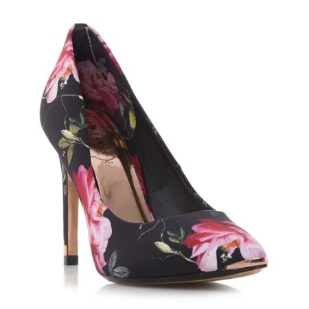 Ted Baker Neevo 3 floral pointed court shoes
