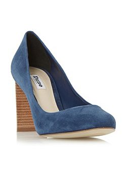 Alaska round toe stacked heel courts