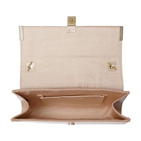 Head Over Heels Braya clasp detail clutch bag