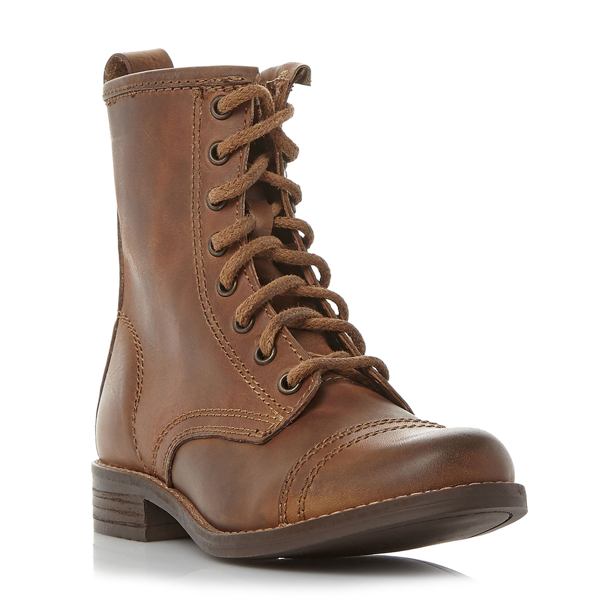 Steve Madden Charrie lace up biker boots Brown
