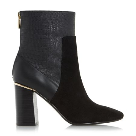 heels ren flared heel ankle boots black house