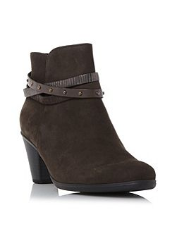 Solero strap detail ankle boots