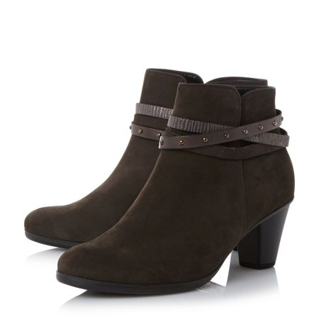 Gabor Solero strap detail ankle boots