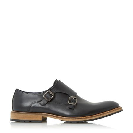 Dune Blackjack double buckle monk shoes