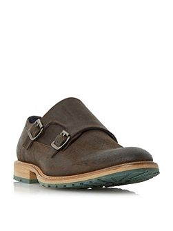 Blackjack double buckle monk shoes