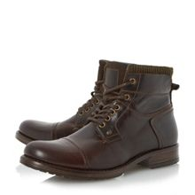 Dune Calabash trial corduroy collar boots