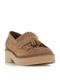 Gypsie tassel and fringe loafers