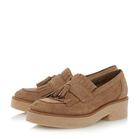 Dune Gypsie tassel and fringe loafers