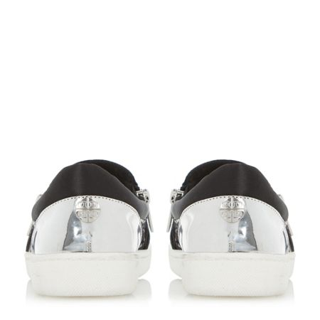 Dune Edgar mixed material slip on shoes