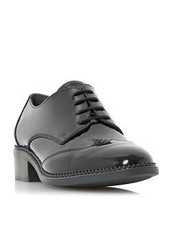 Franklyne patent lace up shoes