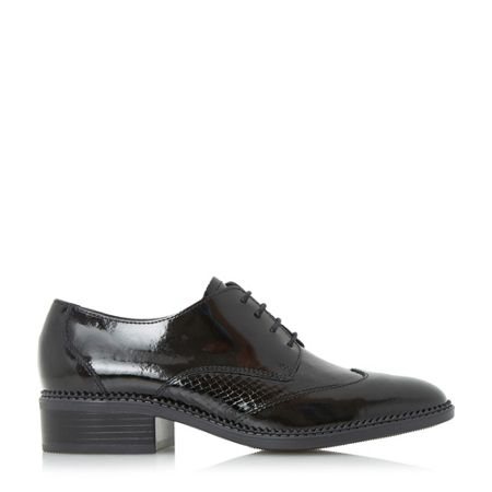Dune Franklyne patent lace up shoes