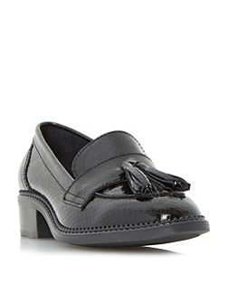 Glossie patent tassel loafer shoes