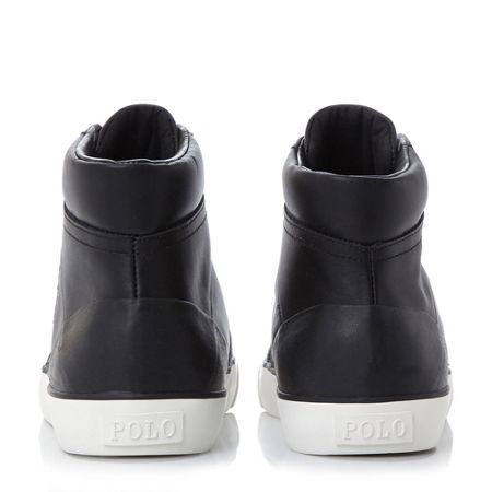 Polo Ralph Lauren Isaak padded collar hi top trainers