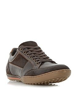 Titan mixed leather lace up trainers