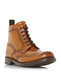 Bedale leather lace up brogue boots