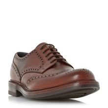 Loake Leat grain leather gibson brogue shoes