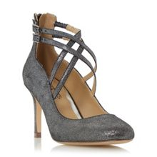 Head Over Heels Alisha cross strap court shoes