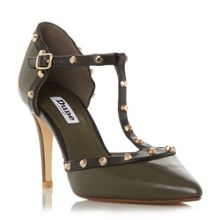 Dune Cliopatra studded t bar courts