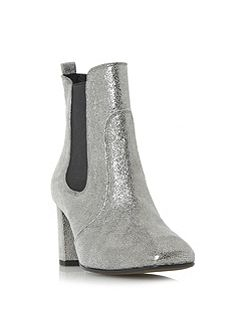 Parade square toe mid heel chelsea boots