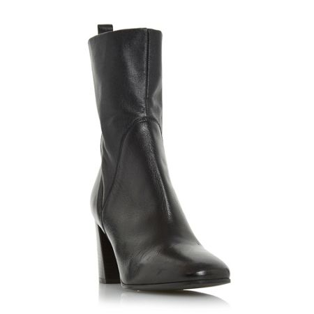 Dune Black Pattison stretch leather high boots