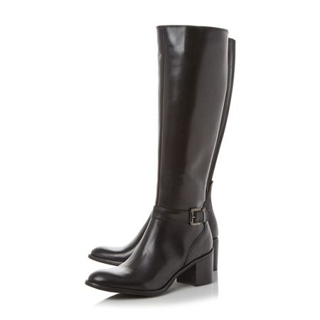 Dune Black Tollie classic leather high boots