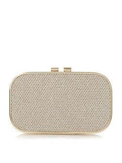 Belda reptile print box clutch bag