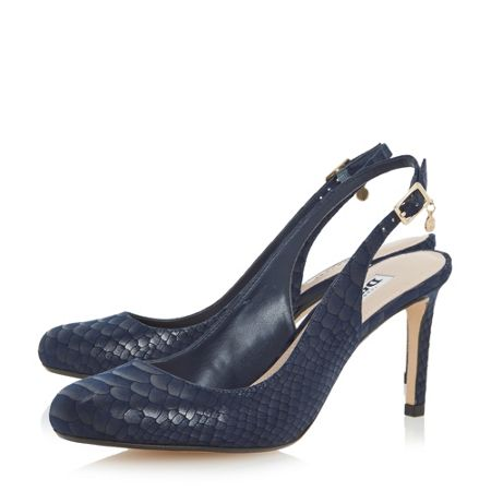 Dune Caggie slingback round toe court shoes