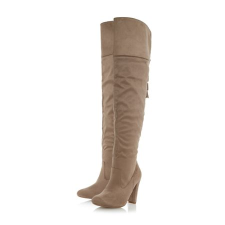 Head Over Heels Seline tassel trim over the knee boots