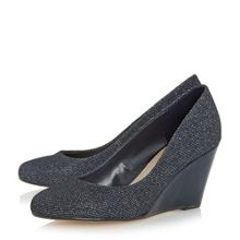 Linea Bora round toe wedge court shoes