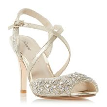Linea Molaney cross strap peep toe sandals