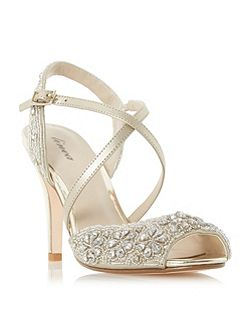 Molaney cross strap peep toe sandals