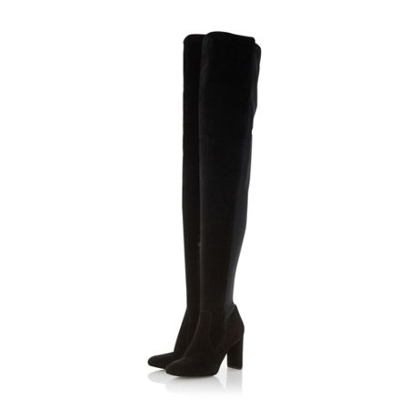 Dune Stella lace up back over the knee boots