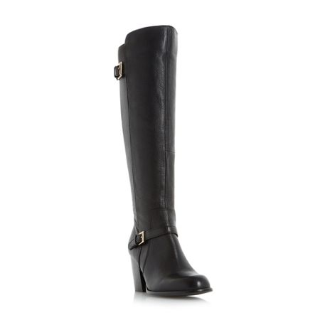 Linea Taney strap and buckle knee high boots