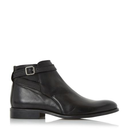 Dune Mungo single buckle strap boots